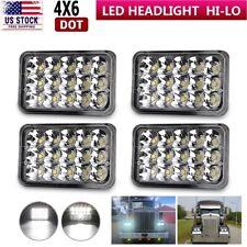 DOT Black 4x6 inch LED Headlight For Freightliner Classic FLB Truck Western Star
