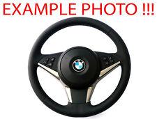 BMW 5 6 E60 E61 E63 E64 Sportlenkrad Neues Leder Schwarz M-dreifarbige Fäden