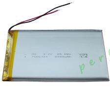 3.7V 8000 mAh Polymer Li Lithium cells Lipo For DVD PSP ipod Tablet PC 7565121