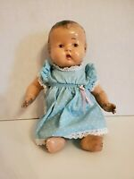 "Vintage / Antique Unmarked Composition Baby Doll 12.5"" Jointed Molded Hair"