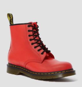 Dr Martens 1460 Color Pop Red Leather Boots US Women 10 EU 42 NIB HTF