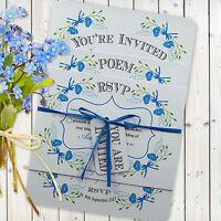 Personalised Handmade Day/Evening Wedding-Invitations 'Fantasy Floral' *SAMPLE*