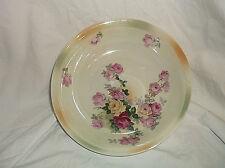 """Vintage Germany Pink Roses Serving Vegetable Bowl 8 1/2"""""""