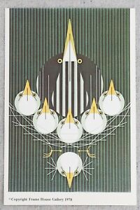 "1970s Charley Harper Bittern Sweet 4x6"" Frameable Print Advertising Postcard"