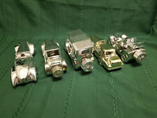 Lot of 5 Silver and Gold Avon car decanters Wild Country Touring T Solid Gold