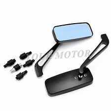 1 Pair Black Motorcycle Rectangle Mirrors For Harley Honda Motorcycle Parts MT