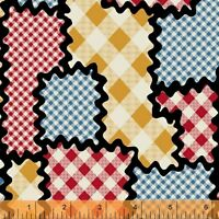 Windham Fabrics I Like You Gingham Puzzle 100% cotton fabric by the yard