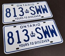 Canada Alberta Ontario SK License Plate RESTORATION SERVICE 1914 1930 1931 1968
