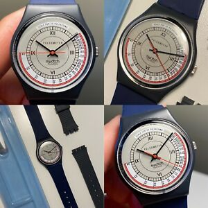 New Old Stock 1987 Swatch Pulsometer GA106 Vintage Watch New Battery