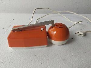 Eichhoff Lampette Leuchte Schreibtisch Teleskop-Lampe orange Germany 1970