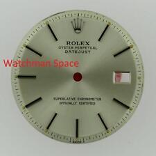 Original Men's Rolex Datejust NQ 1600 1601 1603 Silver Stick Dial S/S #D15