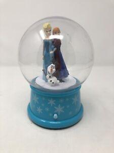 Gemmy Christmas Musical Snow Globe Disney Frozen Let It Go - Elsa Anna Olaf EUC