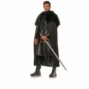 Black Renaissance Cape Game Of Thrones Adult Mens Halloween Costume OS