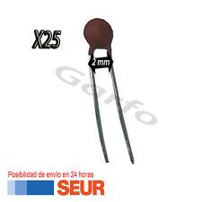 25X Condensador ceramico 220 pF 50V 2mm