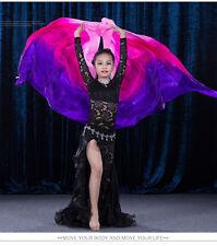 New Arrivals Children Belly Dance Silk Veil Kids Dance Veils Gradient Color