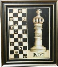KING -  New Double Framed Wall Hanging Chess Pieces  (PIC-King)