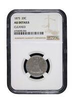 1875 20c Twenty Cent Piece NGC AU About Uncirculated Rare Graded Key Date 8004