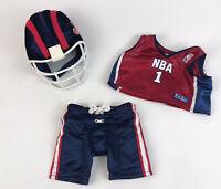 Build a Bear BABW FOOTBALL Helmet Jersey Pants Outfit Clothing
