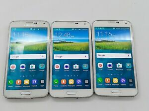 Samsung Galaxy S5 SM-G900A - 16GB - White (AT&T) *Lot of 3*