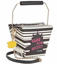 Betsey Johnson Kitsch Chinese Take Out  Crossbody Bag Kung Pow Betsey  NWT