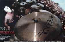 2001 small Print Ad of Istanbul Agop Drum Cymbals w sPaG of MuDvAyNe