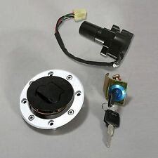 Ignition Switch Fuel Gas Cap Cover Seat Lock Key Set for 2001-2012 Suzuki GS500