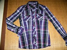 Karierte Figurbetonte Damenblusen,-Tops & -Shirts im Blusen-Stil ohne Mehrstückpackung