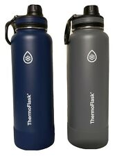 NEW Thermoflask 40 oz Stainless Steel Water Bottle - Green - White - Blue - Gray