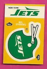 1984 NEW YORK JETS  NFL FOOTBALL STICKERS SHEDULE NRMT-MT (INV# C4004)