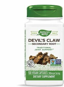 Devil's Claw Secondary Root 480 mg 100 Vegetarian Capsules