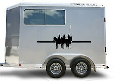 Horses Border Horse Trailer Truck RV Decal Stickers 13x60 Set of 2 Stickers