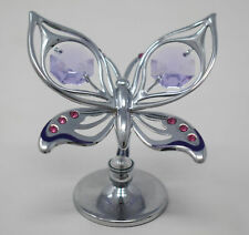 Crystocraft Chrome Plated Orchid Butterfly Sp722