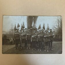 France Photo CP 4 BCP Chasseurs 1914 1918 Fanions