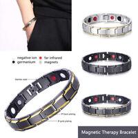 Bracciale Uomo magnetico Titanio Super Forte Terapia Metallo Terapeutico 3Colore