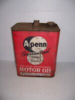 Vintage A Penn 3000 Miles Motor Oil 2 Gallon Can Gas Station Advertising