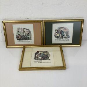 Set of 3 1850s Victorian Framed John Leech Prints incl. Jorrocks by Surtees 9x7