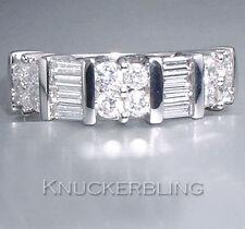 Baguette White Gold Not Enhanced 18Carat Fine Diamond Rings