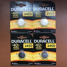 4 x Duracell CR2450 3V Lithium Coin Cell Battery 2450 DL2450 K2450L Longest Exp