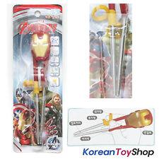 Marvel IRONMAN Training Chopsticks Stainless Steel Avengers BPA Free Korea