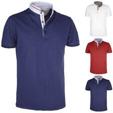 Polo Uomo Cotone Colletto Mezza Manica Corta T-Shirt Slim Fit Casual VEQUE