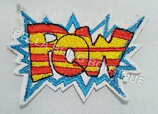 1 SUPER HERO MARVEL POW KIDS IRON ON SEW ON PATCH APPLIQUE