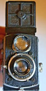 "ROLLEIFLEX Baby original ""4RF 420"" de 1933,4x4 Tessar 3,5/6 cm.Fonctionne bien."