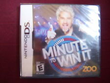 MINUTE TO WIN IT NINTENDO DS FACTORY SEALED!!!  FAST SHIP!!!!!