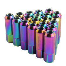 ALUMINUM TUNER RACING LUG NUT EXTENDED FORGED FOR MUSTANG FORD 20PC NEO CHROME