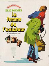 Affiche 40x60cm LA FEMME DE L'AVIATEUR (1980) Eric Rohmer - Marlaud, Rivière TBE