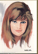 MILVA PC 1966 Cartolina Beat Pop Star Illustratore PICCHIONI