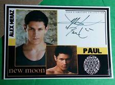 TWILIGHT PAUL ALEX MERAZ2009 SIGNATURE COLLECTION LMT ED STARZ CARDZ SERIES CARD