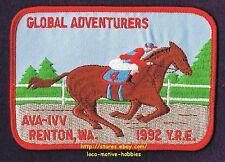 LMH Patch 1992 GLOBAL ADVENTURERS Derby Walking Club IVV AVA Volkssport RENTON