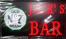 "JACK'""S BAR LED SIGN 58cm x 33cm  NEW FREE POST"