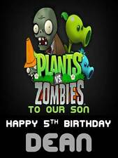 Personalised Plants vs Zombies Birthday Greeting Card with Envelope 261